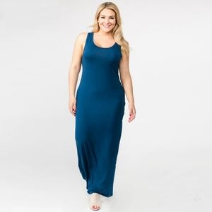 Dresses & Skirts - Teal Maxi Dress - Plus Sizes Only